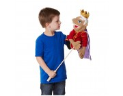 Melissa & Doug King Puppet With Detachable Wooden Rod for Animated Gestures Free Shipping