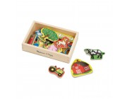 Melissa & Doug Wooden Farm Magnets with Wooden Tray - 20pc Free Shipping