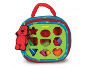 Melissa & Doug K's Kids Take-Along Shape Sorter Baby Toy With 2-Sided Activity Bag and 9 Textured Shape Blocks Free Shipping