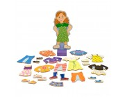 Melissa & Doug Maggie Leigh Magnetic Wooden Dress-Up Doll Pretend Play Set (25+pc) Free Shipping