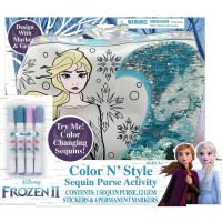 Disney Frozen 2 Color and Style Sequin Purse Activity Set Free Shipping