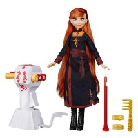 Disney Frozen 2 Sister Styles Anna Fashion Doll With Extra-Long Red Hair, Braiding Tool and Hair Clips Free Shipping