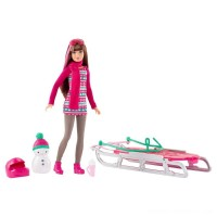 Barbie Sisters' Sledding Fun and Doll Playset Free Shipping