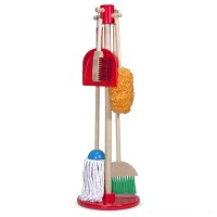 Melissa & Doug Let's Play House! Dust, Sweep & Mop 6 Pc Set Free Shipping