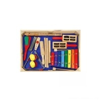 Melissa & Doug Deluxe Band Set With Wooden Musical Instruments and Storage Case Free Shipping