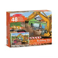 Melissa And Doug Building Site Jumbo Floor Puzzle 48pc Free Shipping