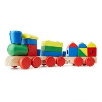 Melissa & Doug Stacking Train - Classic Wooden Toddler Toy (18pc) Free Shipping