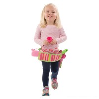 Melissa & Doug Sunny Patch Blossom Bright Garden Tool Belt Set With Gloves, Trowel, Watering Can, and Pot Free Shipping
