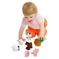Melissa & Doug Pop Blocs Farm Animals Educational Baby Toy - 10 Linkablepc Free Shipping