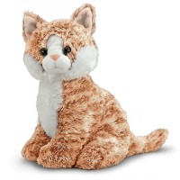 Melissa & Doug Pumpkin Tabby - Stuffed Animal Cat Free Shipping