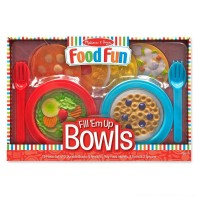 Melissa & Doug Create-A-Meal Fill Em Up Bowls (12pc) - Play Food and Kitchen Accessories Free Shipping