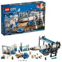 LEGO City Space Rocket Assembly & Transport 60229 Model Rocket Building Set with Toy Crane 1055pc Free Shipping