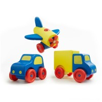 Melissa & Doug Deluxe Wooden First Vehicles Set With Truck, Car, and Airplane Free Shipping