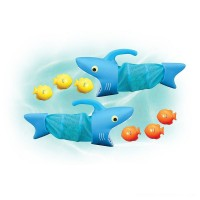 Melissa & Doug Sunny Patch Spark Shark Fish Hunt Pool Game With 2 Nets and 6 Fish to Catch Free Shipping