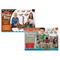 Melissa And Doug Pirate Ship And Medieval Castle 3D Puzzle 200pc Free Shipping