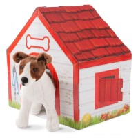 Melissa & Doug Doghouse Plush Pet Playhouse Free Shipping
