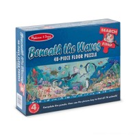 Melissa And Doug Search And Find Beneath The Waves Floor Puzzle 48pc Free Shipping