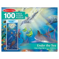 Melissa And Doug Under The Sea Jumbo Floor Puzzle 100pc Free Shipping