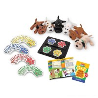 Melissa & Doug Puppy Pursuit Games - 6 Stuffed Dogs, 60 Cards - 10 Games With Variations Free Shipping