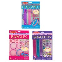 Melissa & Doug Design-Your-Own Jewelry-Making Kits - Bangles, Headbands, and Bracelets Free Shipping