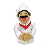 Melissa & Doug Chef Puppet With Detachable Wooden Rod Free Shipping
