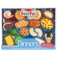 Melissa & Doug Food Fun Combine & Dine Dinners - Blue Free Shipping
