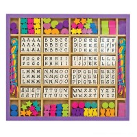 Melissa & Doug Deluxe Wooden Stringing Beads With 200+ Beads and 8 Laces for Jewelry-Making Free Shipping