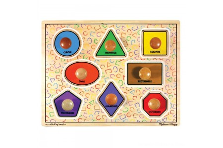 Black Friday 2020 Sale Melissa & Doug Large Shapes Jumbo Knob Wooden Puzzle (8pc) Free Shipping