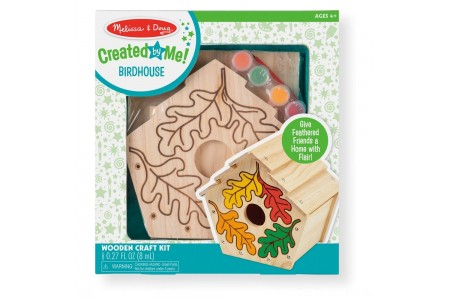 Melissa & Doug Build-Your-Own Wooden Birdhouse Craft Kit Free Shipping