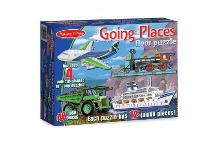 Melissa And Doug Going Places Vehicles Floor Puzzles 48pc Free Shipping