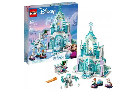 LEGO Disney Princess Elsa's Magical Ice Palace 43172 Toy Castle Building Kit with Mini Dolls Free Shipping