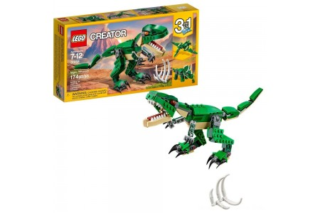 LEGO Creator Mighty Dinosaurs 31058 Build It Yourself Dinosaur Set, Pterodactyl, Triceratops, T Rex Toy Free Shipping