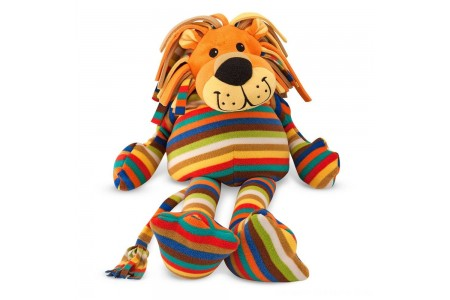 Melissa & Doug Elvis Lion - Patterned Pal Stuffed Animal Free Shipping
