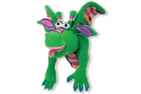 Melissa & Doug Smoulder the Dragon Puppet With Detachable Wooden Rod for Animated Gestures Free Shipping