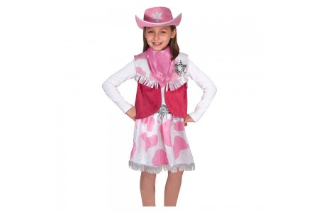 Black Friday 2020 Sale Melissa & Doug Cowgirl Role Play Costume Set (5pcs) - Skirt, Hat, Vest, Badge, Scarf, Adult Unisex Free Shipping