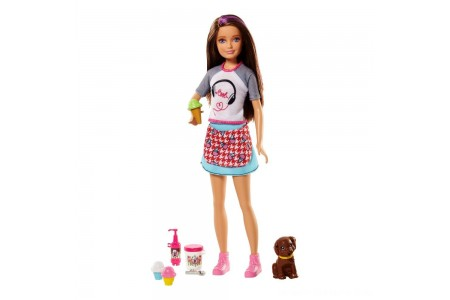 Barbie Sisters Skipper Doll and Ice Cream Accessory Set Free Shipping
