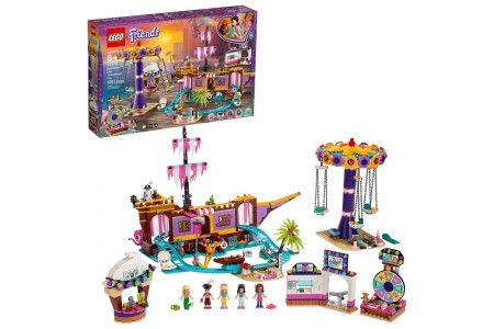 LEGO Friends Heartlake City Amusement Park with Toy Rollercoaster Building Set with Mini Dolls 41375 Free Shipping
