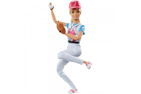 Black Friday 2020 Sale Barbie Made to Move Baseball Player Doll Free Shipping