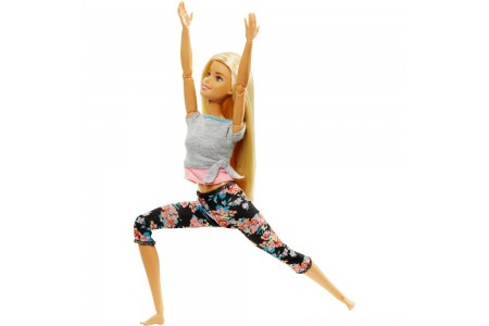Barbie Made To Move Yoga Doll - Floral Pink Free Shipping
