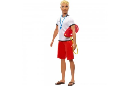 Barbie Ken Career Lifeguard Doll Free Shipping