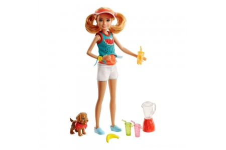 Barbie Sisters Stacie Doll and Smoothie Accessory Set Free Shipping