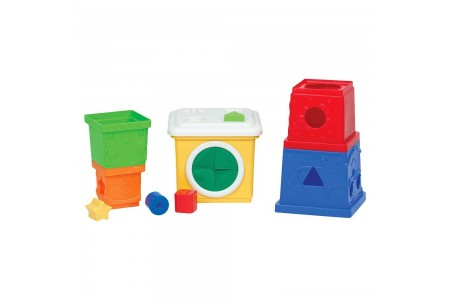 Black Friday 2020 Sale Melissa & Doug K's Kids Stacking Blocks Set With Sorting Shapes Free Shipping