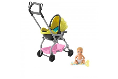 Barbie Skipper Babysitter Inc. Stroller and Baby Playset Free Shipping