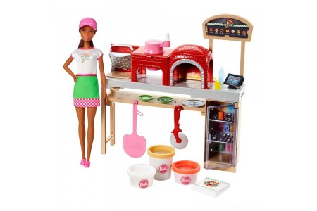 Black Friday 2020 Sale Barbie Careers Pizza Chef Nikki Doll and Playset Free Shipping