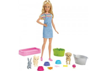 Barbie Play 'n' Wash Pets Doll and Playset Free Shipping