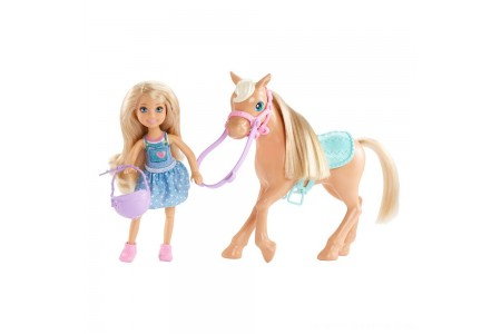 Barbie Chelsea Doll & Pony Playset Free Shipping