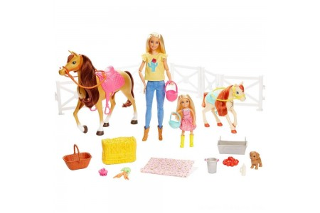 Barbie Hugs 'N' Horses Playset Free Shipping