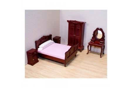 Black Friday 2020 Sale Melissa & Doug Classic Victorian Wooden and Upholstered Dollhouse Bedroom Furniture 6 pc Free Shipping
