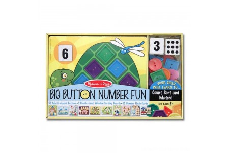 Melissa & Doug Big Button Number Fun Counting and Matching Activity Set Board Game, Kids Unisex Free Shipping