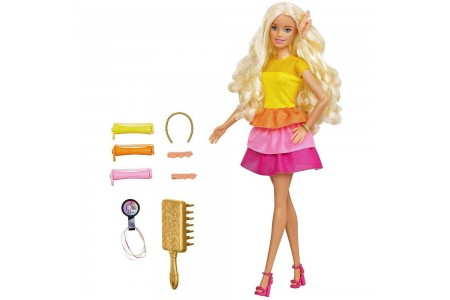 Barbie Ultimate Curls Doll and Playset Free Shipping